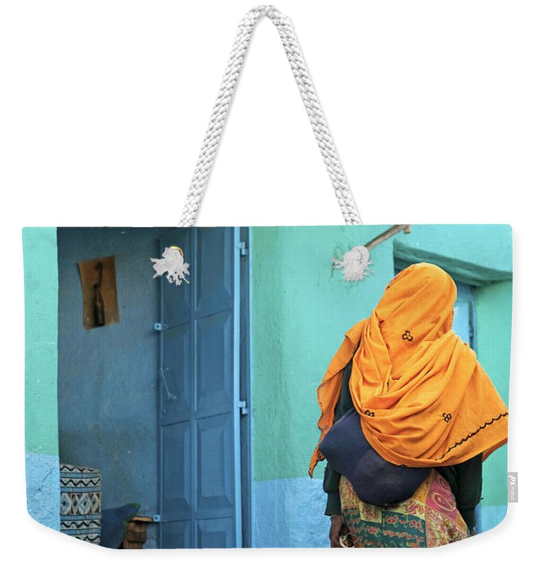 Harar Weekender Tote Bag featuring the photograph Street In Harar Ethiopia by Jacek Malipan