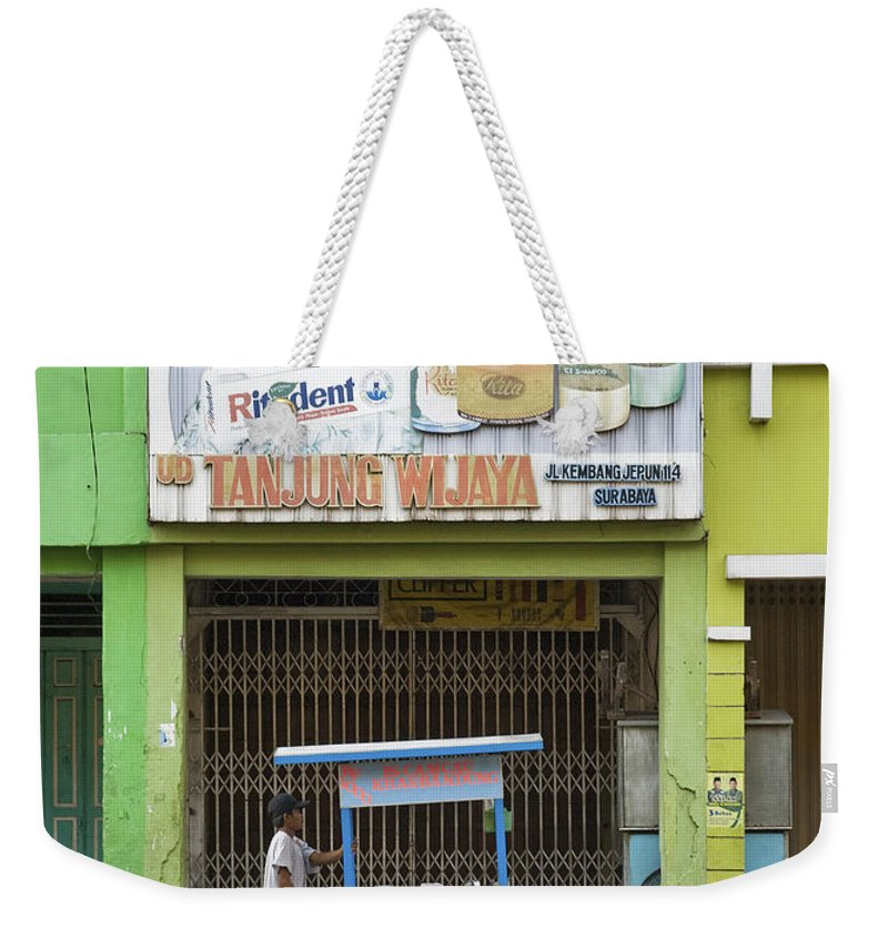 Street Weekender Tote Bag featuring the photograph Street In Surabaya Indonesia by Jacek Malipan