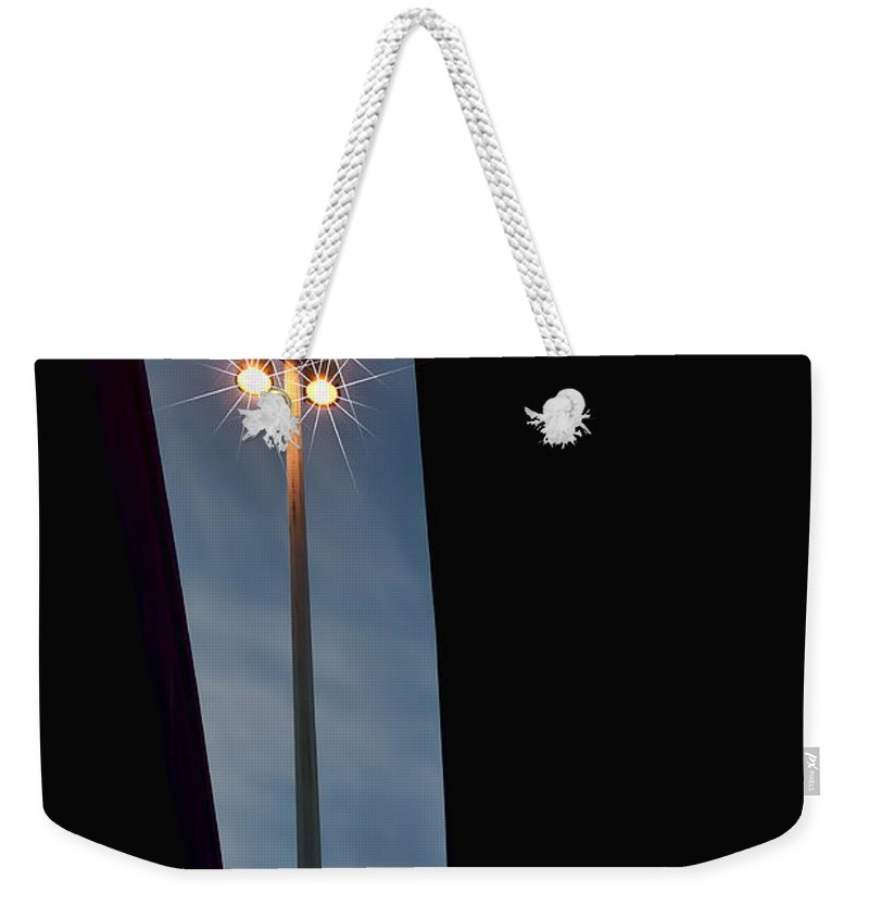Black Weekender Tote Bag featuring the photograph Street Lamp by Maria Coulson