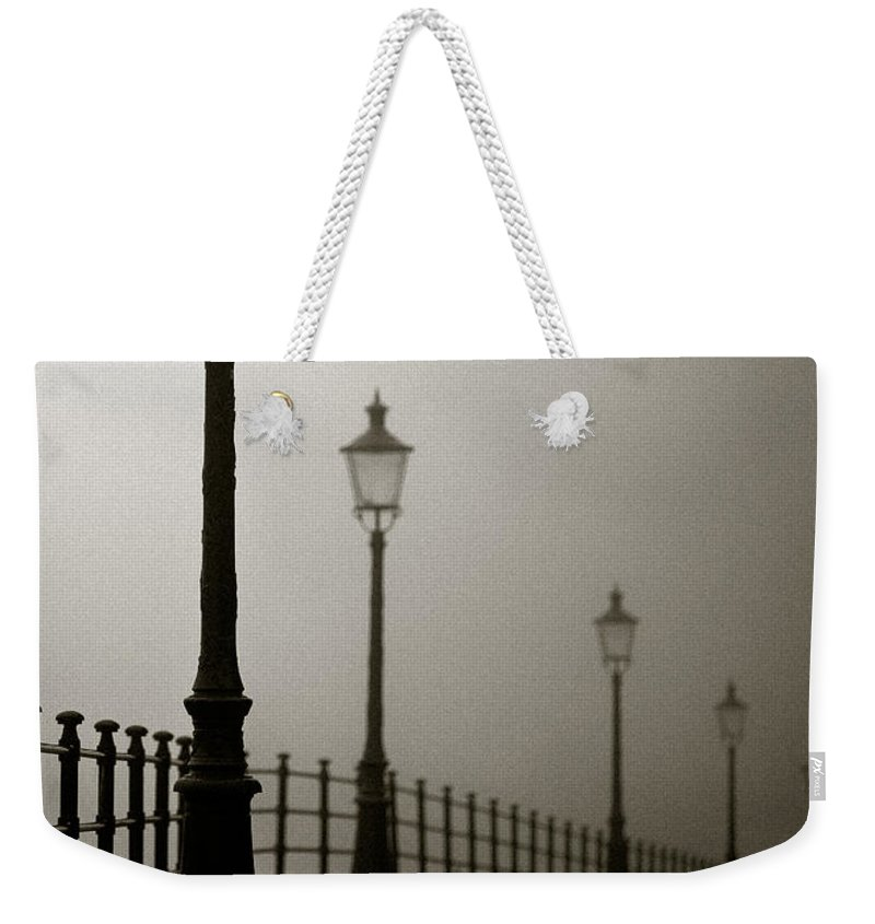 Maastricht Weekender Tote Bag featuring the photograph Street Lamps by Dave Bowman