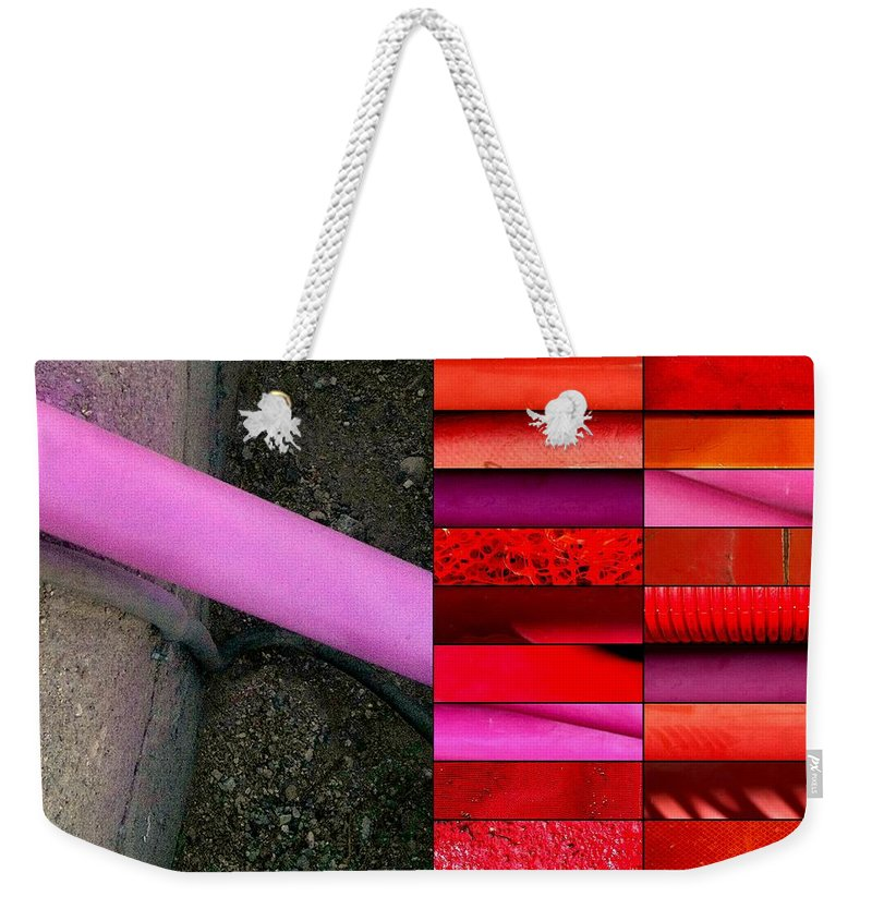 Hot Pink Weekender Tote Bag featuring the photograph Street Sights 28 by Marlene Burns