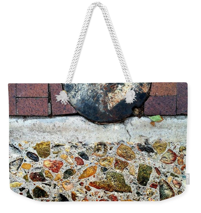 Abstract Weekender Tote Bag featuring the photograph Street Sights 30 by Marlene Burns