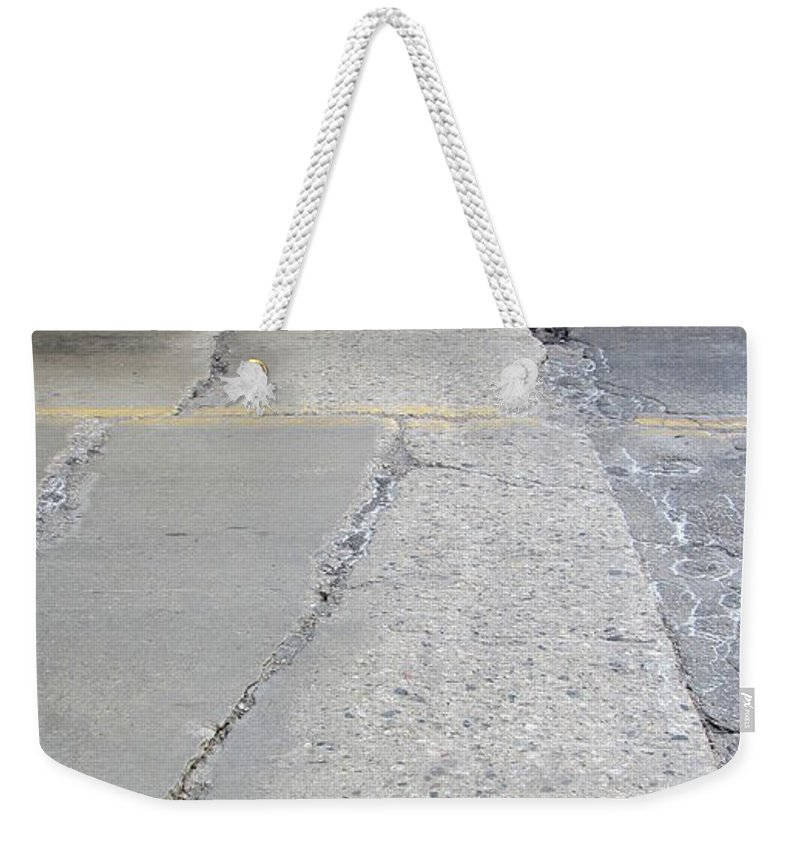 Concrete. Bridge Weekender Tote Bag featuring the photograph Street Under The Bridge by Anita Burgermeister