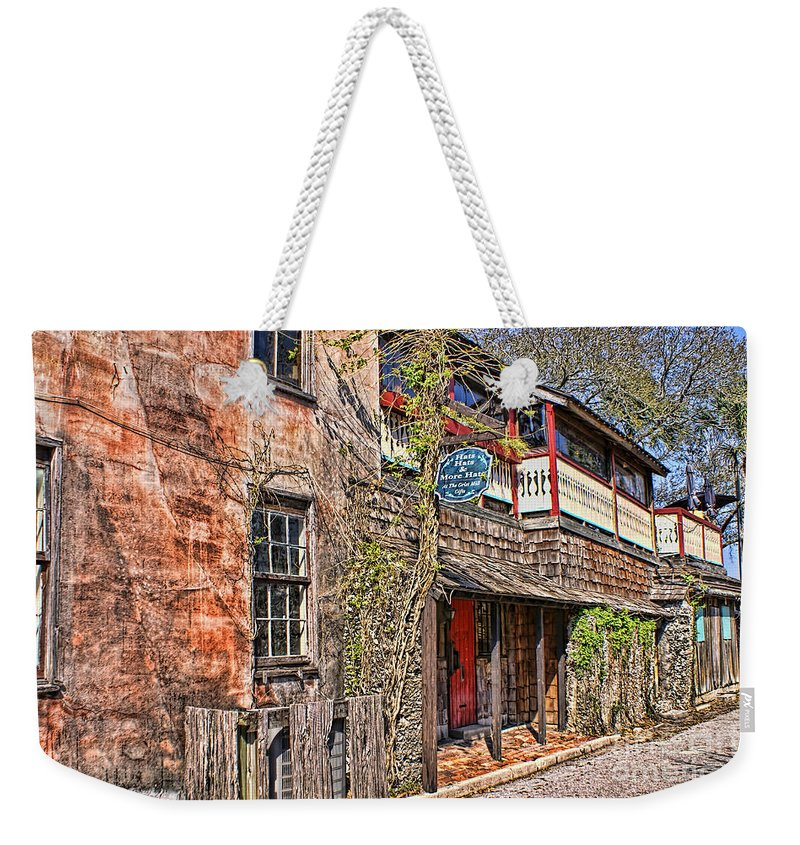St Augustine Weekender Tote Bag featuring the photograph Streets Of St Augustine Florida by Olga Hamilton