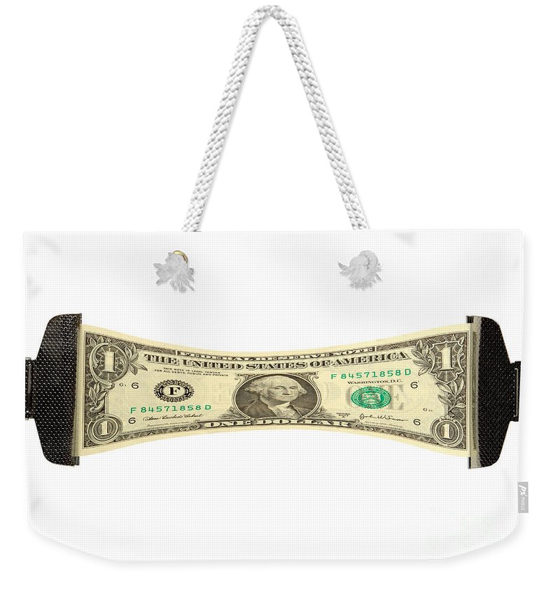Dollar Weekender Tote Bag featuring the photograph Stretching The Dollar by Olivier Le Queinec