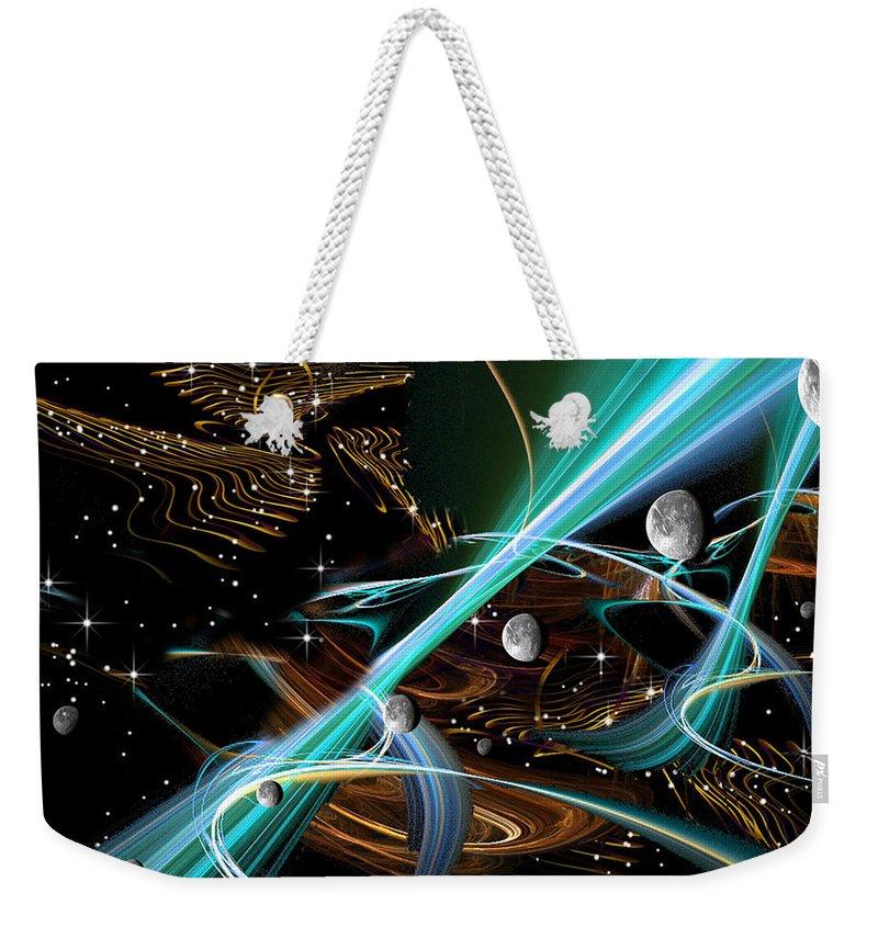 Phil Sadler Weekender Tote Bag featuring the digital art String Theory by Phil Sadler