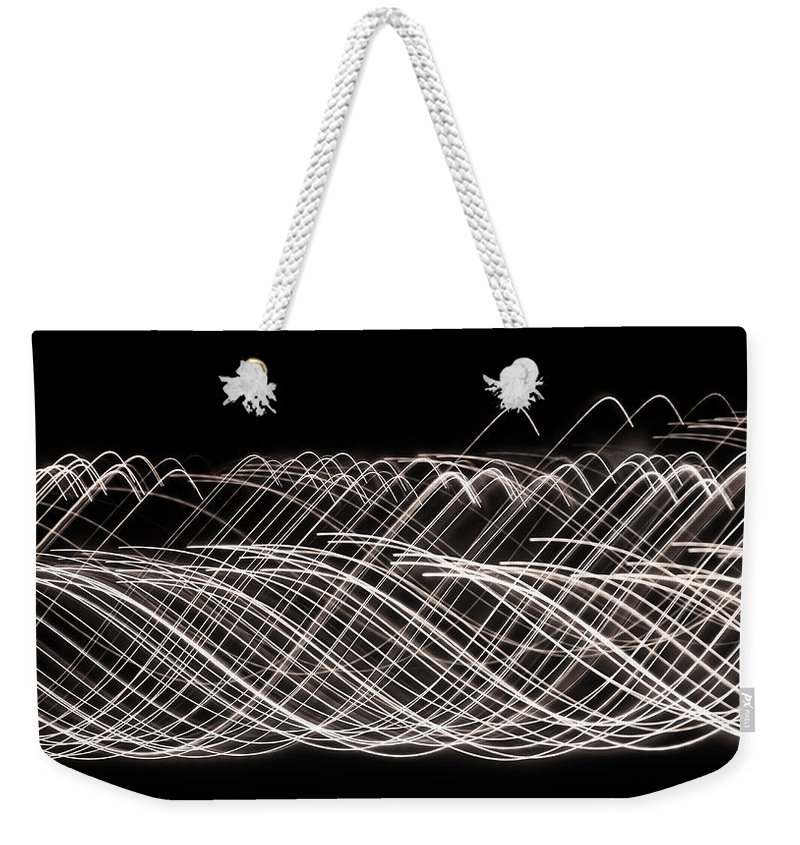 String Theory Weekender Tote Bag featuring the photograph String Theory by Rachel Cohen