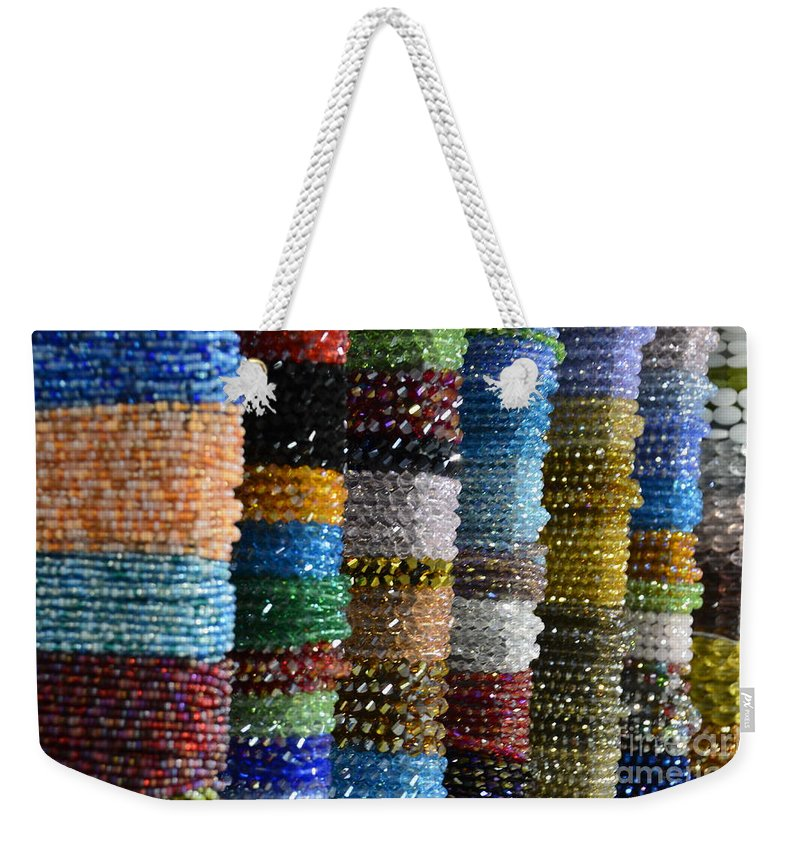 Beads Weekender Tote Bag featuring the photograph Strings Of Color by Randy J Heath