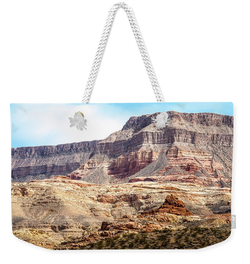 Utah Usa Weekender Tote Bag featuring the photograph Striped Mountains by Onyonet Photo Studios