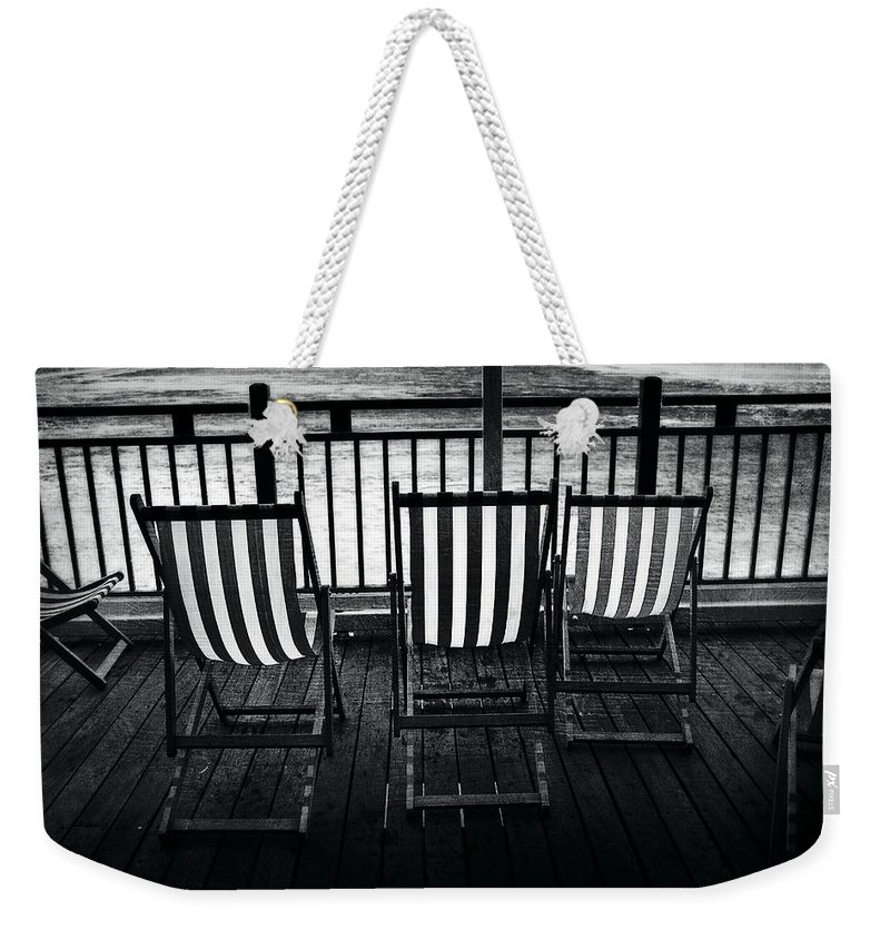 Uk Weekender Tote Bag featuring the photograph Stripes by Christopher Rees
