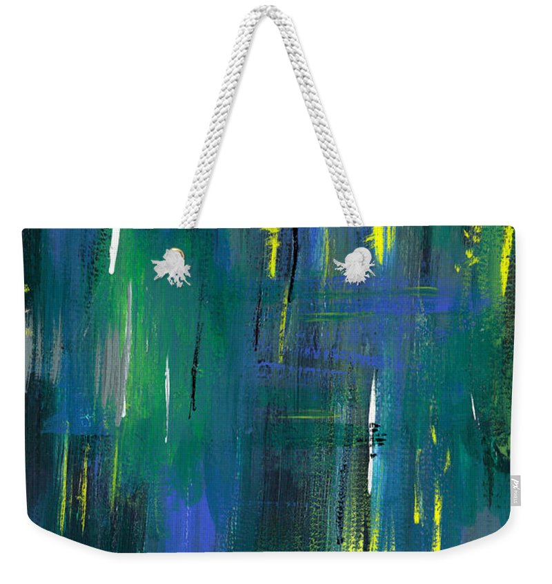 Abstract Weekender Tote Bag featuring the painting Strokes by Aparna Raghunathan