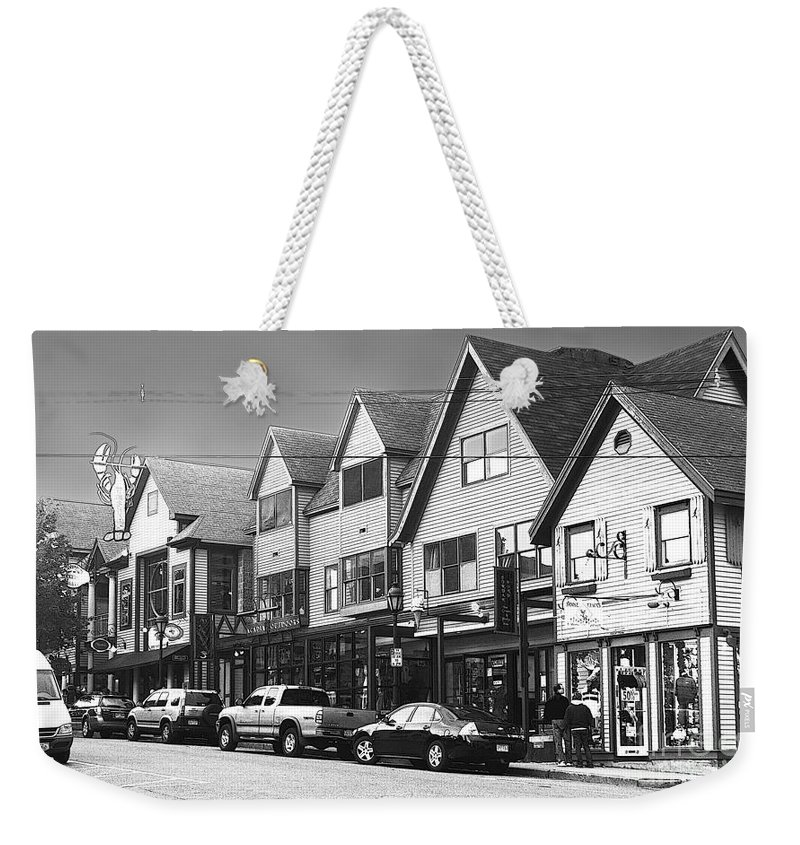 Bar Harbor Weekender Tote Bag featuring the photograph Strolling The Streets Of Bar Harbor by Betty LaRue