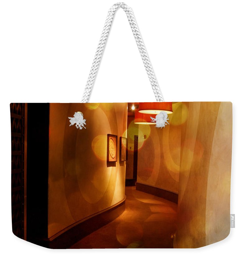 Art Weekender Tote Bag featuring the photograph Strong Wine Wavy Walls by Paulette B Wright