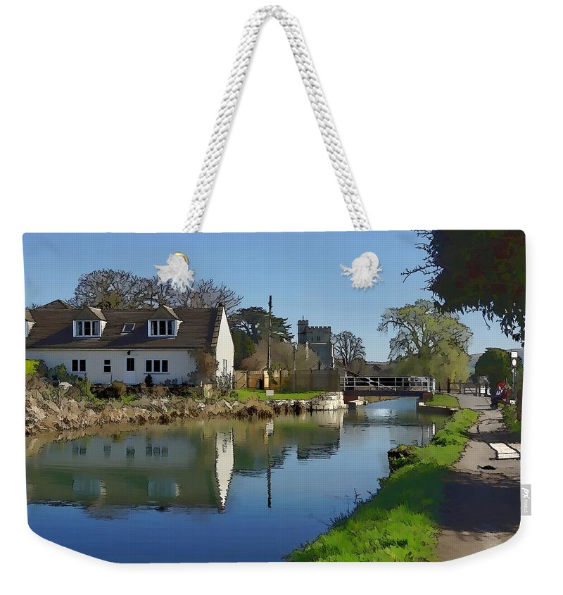 Canal Weekender Tote Bag featuring the photograph Stroudwater Canal Stonehouse by Ron Harpham