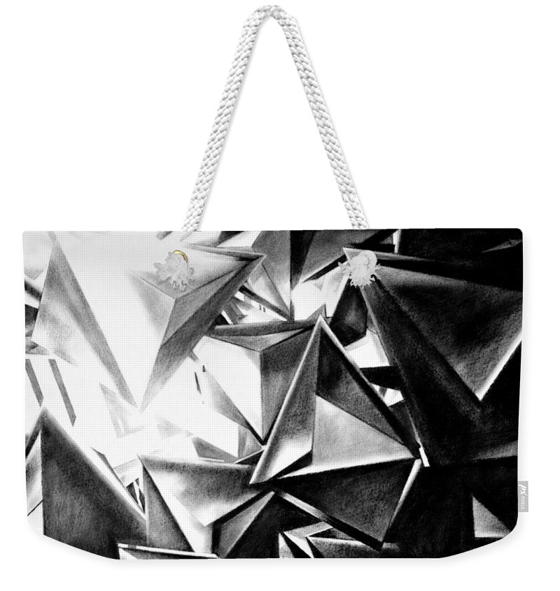 Drawing Weekender Tote Bag featuring the drawing Structure Invasion by Iliyan Bozhanov