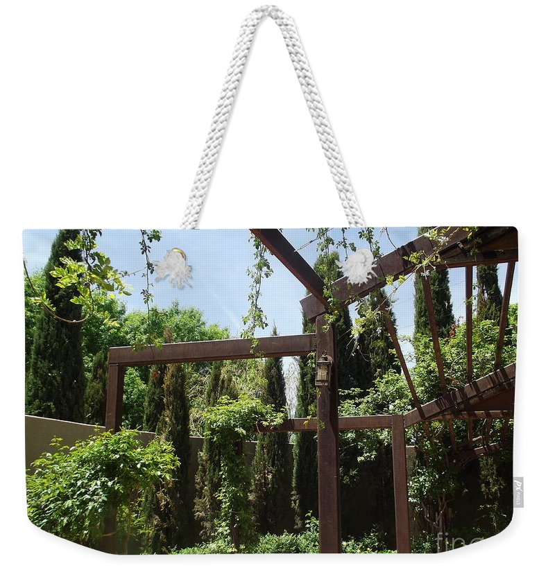 Vines Weekender Tote Bag featuring the photograph Structure by Jennifer Lavigne