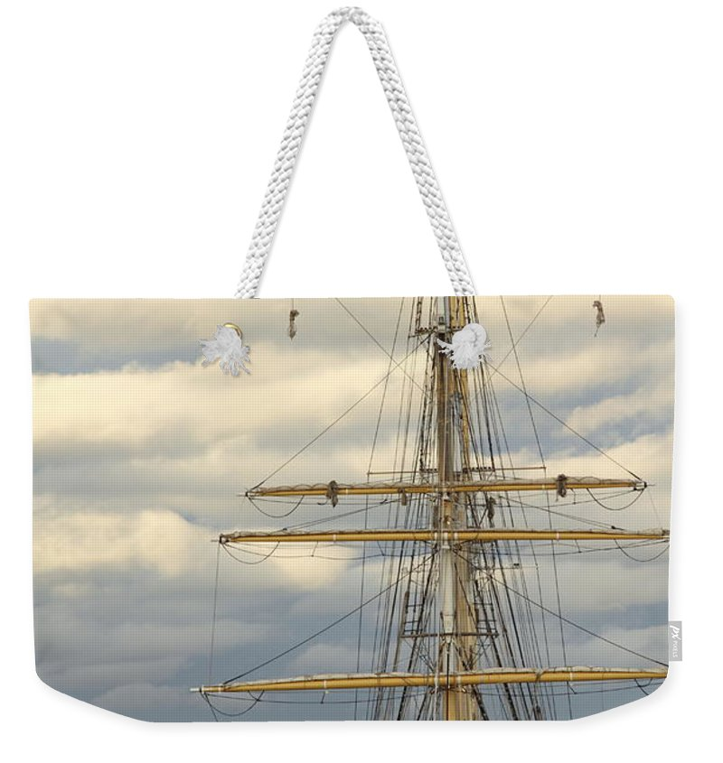Sts Leeuwin Ii Weekender Tote Bag featuring the photograph Sts Leeuwin II 2am-112486 by Andrew McInnes