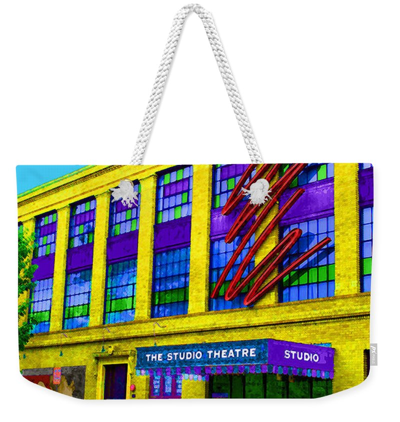 Studio Weekender Tote Bag featuring the photograph Studio Theatre Washington Dc by Jost Houk