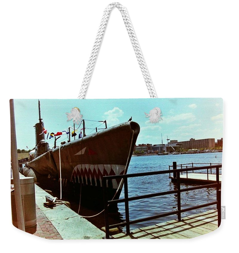 Submarine Weekender Tote Bag featuring the photograph Submarine by Karl Rose