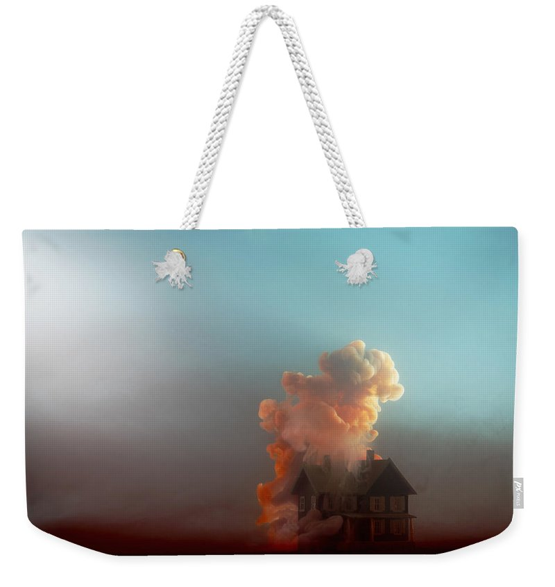 Model House Weekender Tote Bag featuring the photograph Submerged House by Paul Taylor