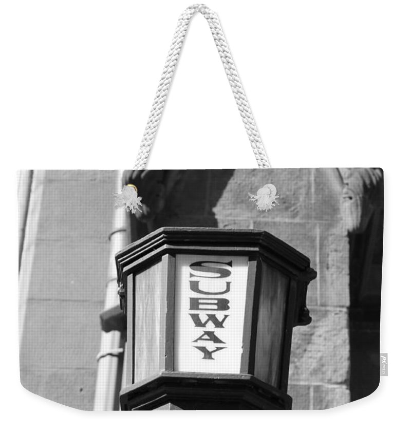 Subway Station Weekender Tote Bag featuring the photograph Subway Post by Catie Canetti