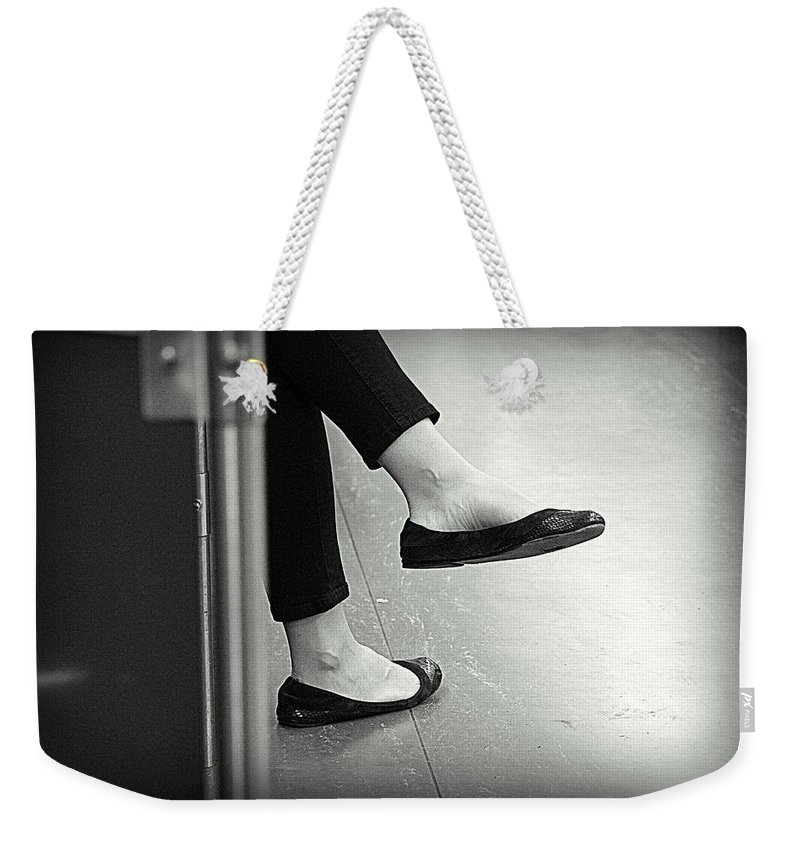 Rest Weekender Tote Bag featuring the photograph Subway Rest by Valentino Visentini