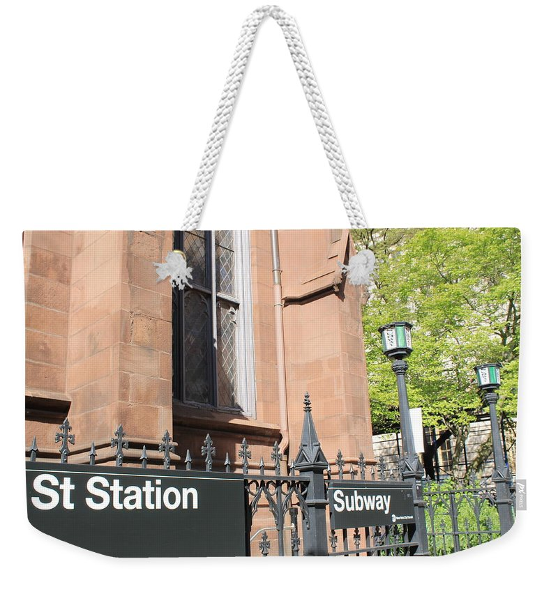 Subway Station Weekender Tote Bag featuring the photograph Subway Station In Brooklyn by Catie Canetti