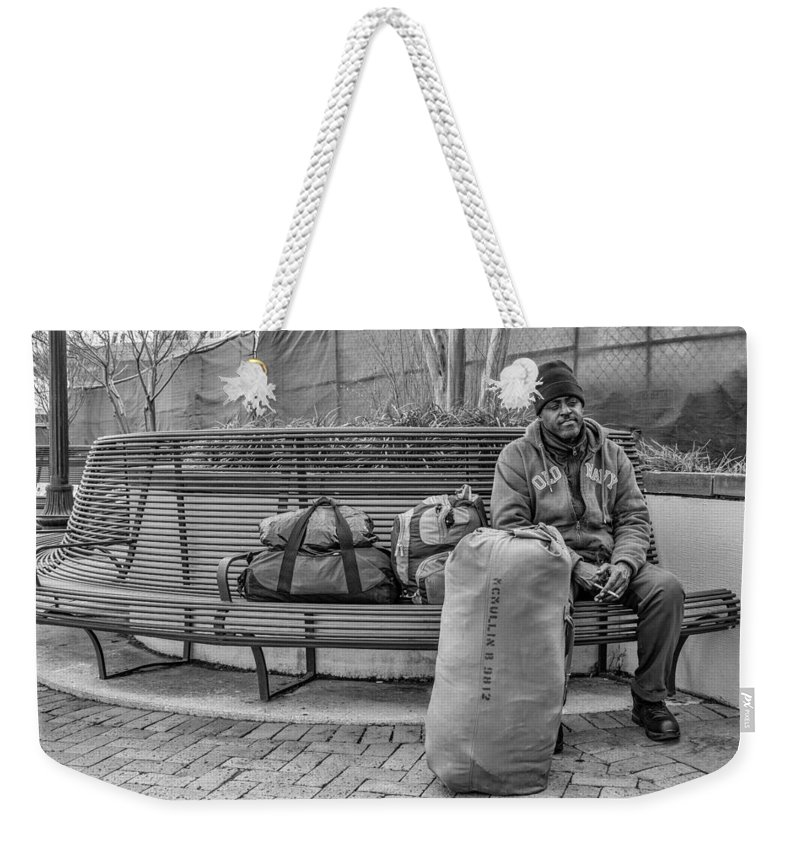 Nola Weekender Tote Bag featuring the photograph Such A Long Journey Bw by Steve Harrington