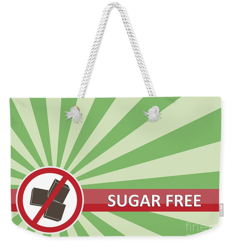 Product Weekender Tote Bag featuring the photograph Sugar Free Banner by Tim Hester