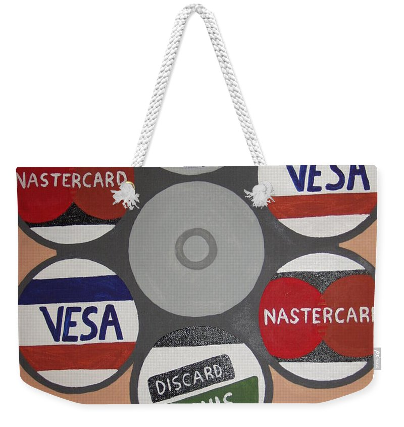 Painting Weekender Tote Bag featuring the painting Suicide Solution by Dean Stephens