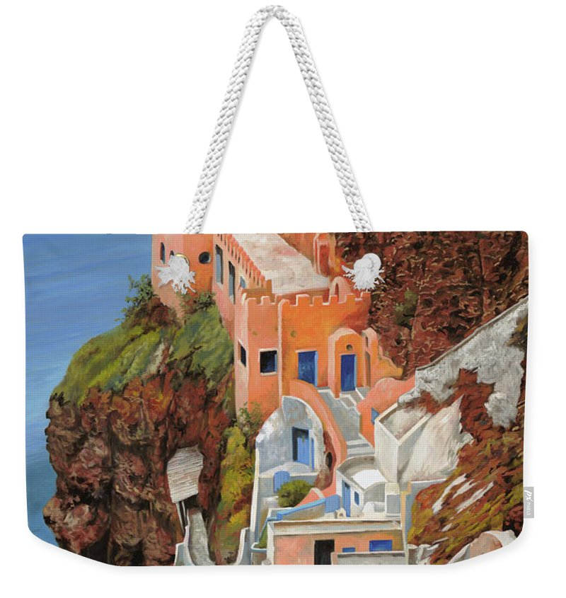 Greece Weekender Tote Bag featuring the painting sul mare Greco by Guido Borelli
