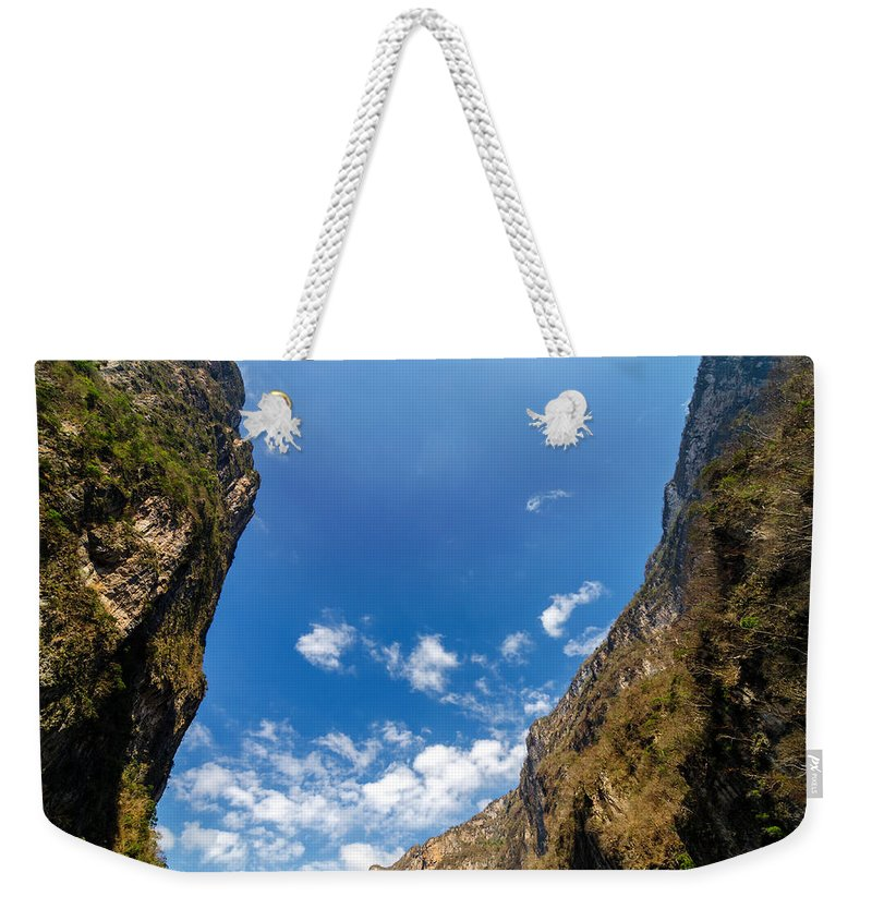 Canyon Weekender Tote Bag featuring the photograph Sumidero Canyon Sky by Jess Kraft