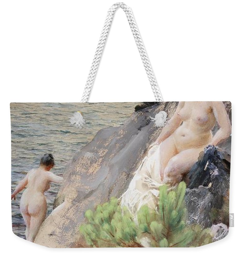 Anders Zorn Weekender Tote Bag featuring the digital art Summer by Anders Zorn