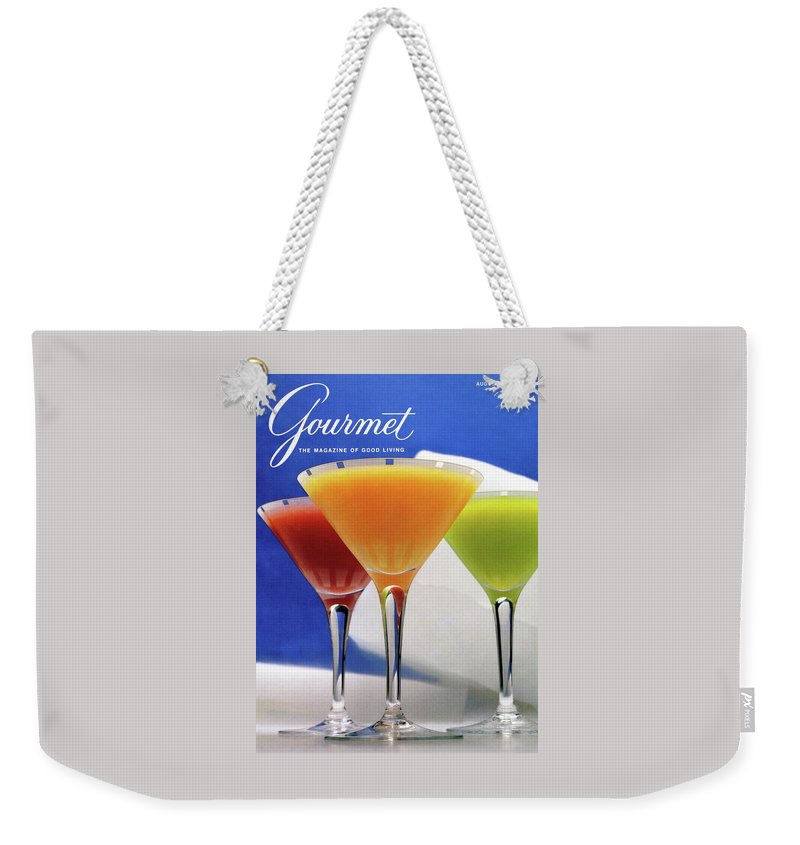 Food Weekender Tote Bag featuring the photograph Summer Cocktails by Romulo Yanes