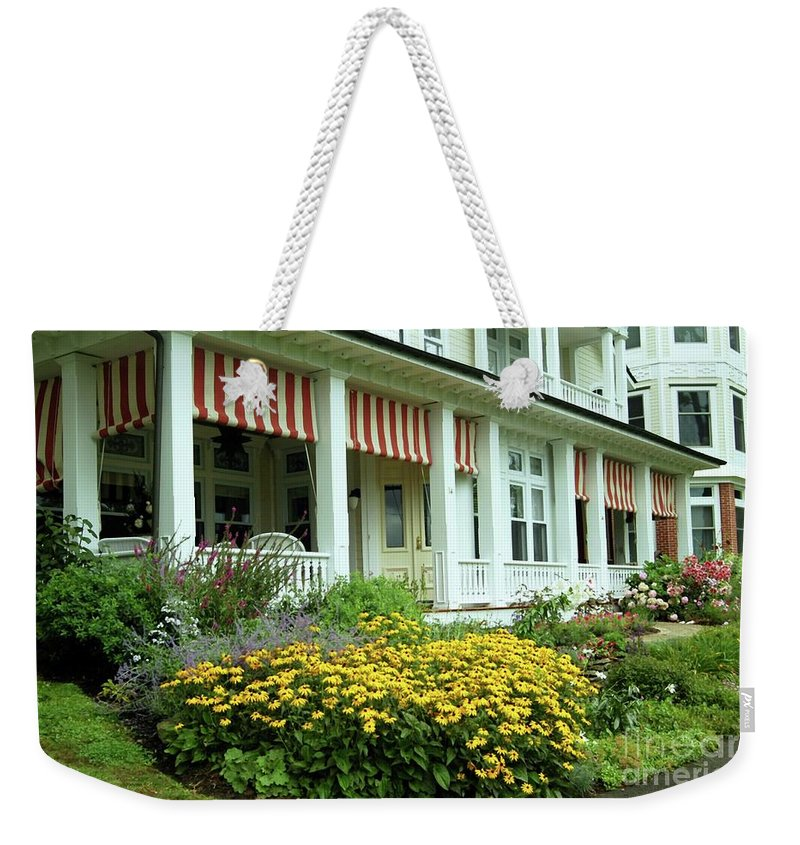 Summer Weekender Tote Bag featuring the photograph Summer Cottage by Kathleen Struckle