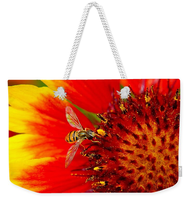 Buzz Weekender Tote Bag featuring the photograph Summer Day by Frozen in Time Fine Art Photography