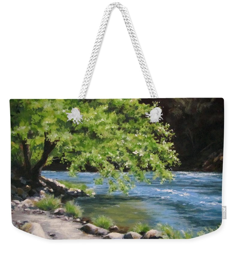 Landscape Weekender Tote Bag featuring the painting Summer Dreams by Karen Ilari