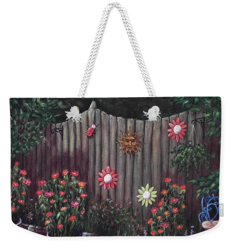 Plant Weekender Tote Bag featuring the painting Summer Garden by Anastasiya Malakhova