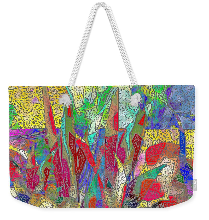 Abstract Weekender Tote Bag featuring the digital art Summer In The Meadow by Ruth Palmer