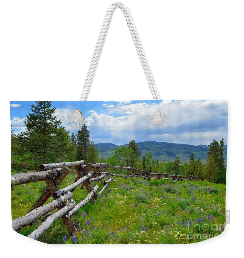 Landscape Weekender Tote Bag featuring the photograph Summer In The Mountains by Crystal Miller