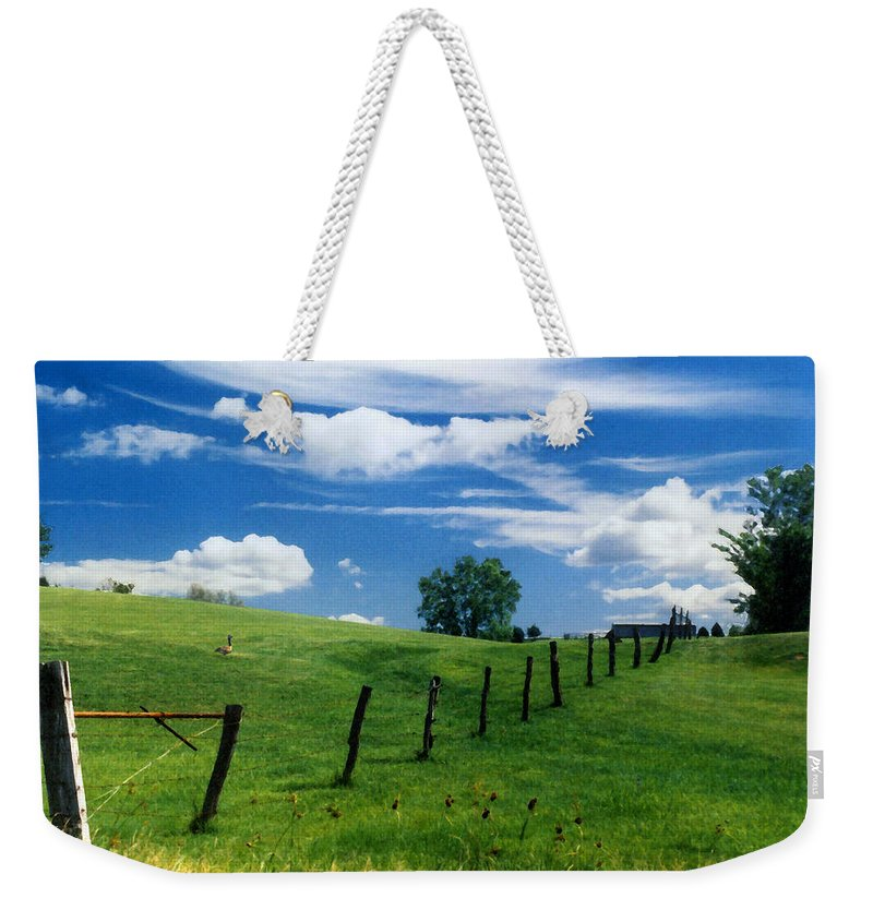 Summer Landscape Weekender Tote Bag featuring the photograph Summer Landscape by Steve Karol