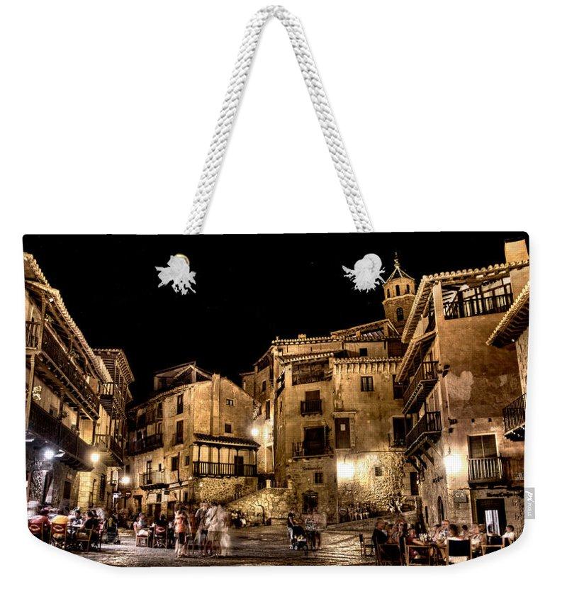 Albarracin Weekender Tote Bag featuring the photograph Summer Night In Albarracin Spain by Weston Westmoreland