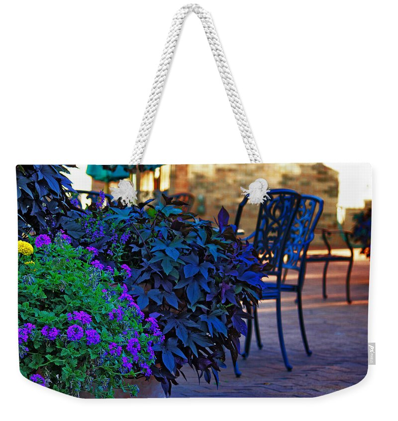 Patio Weekender Tote Bag featuring the photograph Summer Patio by Rowana Ray