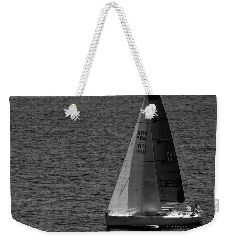 Sailboat Weekender Tote Bag featuring the photograph Summer Sail by Eric Tressler