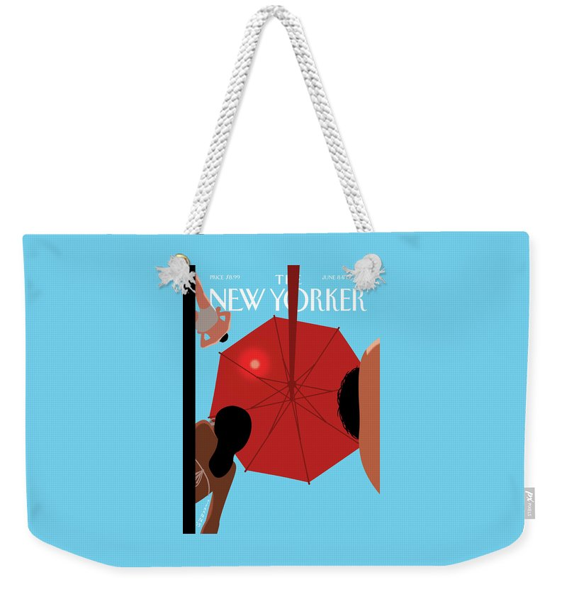 Summer Sky Weekender Tote Bag featuring the painting Summer Sky by Christoph Niemann