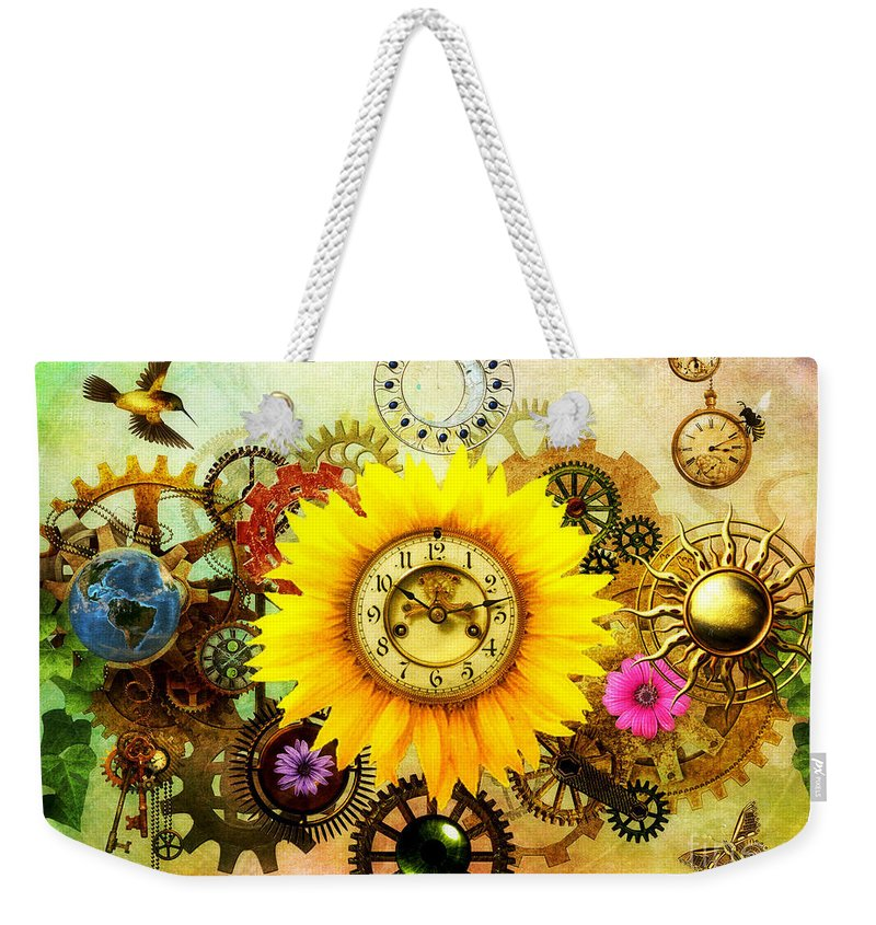 Summer Weekender Tote Bag featuring the digital art Summer Solstice 2014 by Putterhug Studio