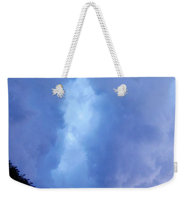 Summer Storm Clouds Weekender Tote Bag featuring the photograph Summer Storm Clouds by Janell R Colburn