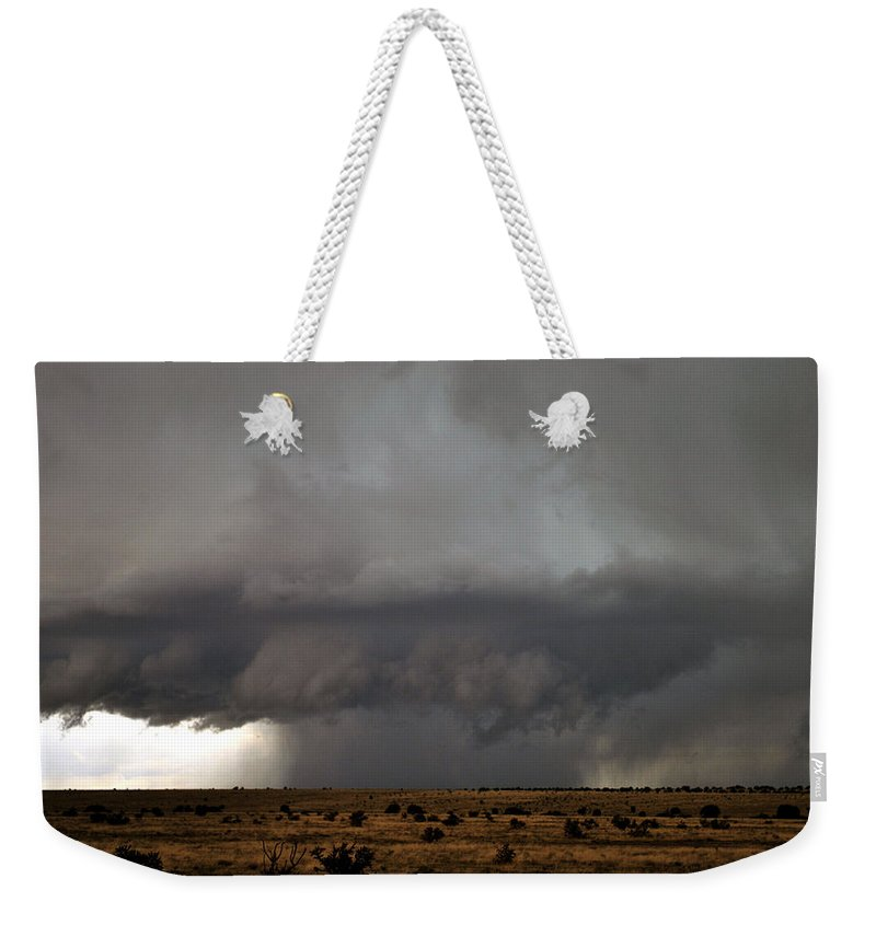 Landscape Weekender Tote Bag featuring the photograph Summer Storm by Pam Romjue