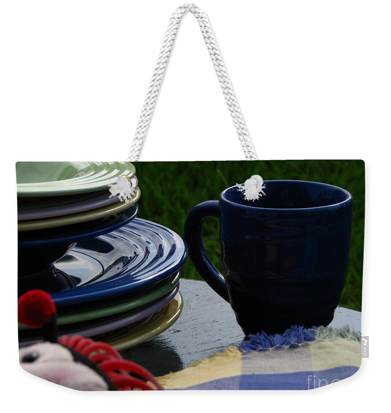 Art For The Wall Weekender Tote Bag featuring the photograph Summer Table by Greg Patzer
