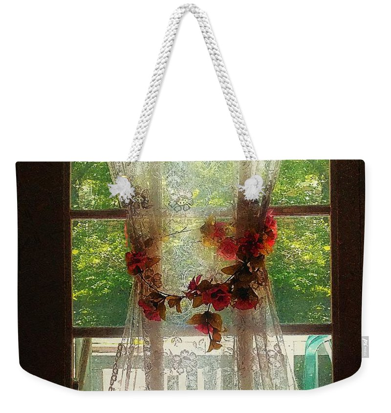 Curtain Weekender Tote Bag featuring the painting Summerglow by RC DeWinter